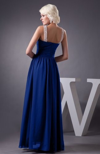 Sodalite Blue Chiffon Bridesmaid Dress Country Chic Summer Simple Plus Size  Western