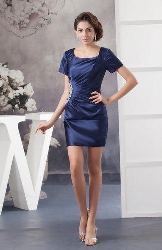 with Sleeves Bridesmaid Dress Unique Luxury Hot Rhinestone Sheath Trendy