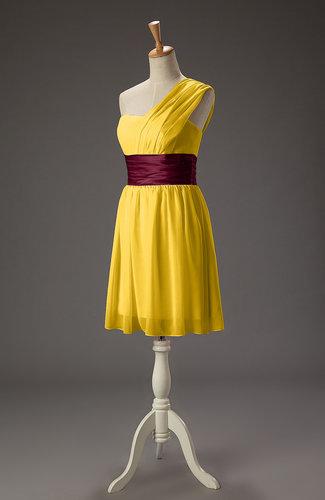 Romantic A-line Sleeveless Chiffon Ribbon Bridesmaid Dresses