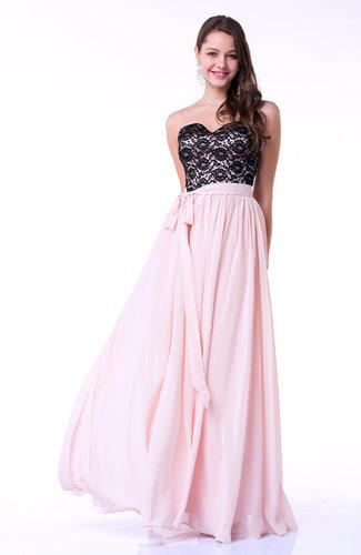 Silver Peony Modern Sweetheart Zip up Chiffon Ribbon Plus Size Prom Dresses