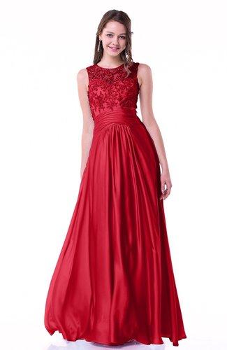 Romantic A-line Zipper Floor Length Sash Plus Size Prom Dresses