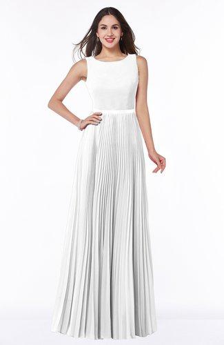 Simple A-line Chiffon Floor Length Sash Plus Size Bridesmaid Dresses