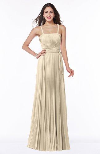 Mature Spaghetti Sleeveless Half Backless Floor Length Sash Plus Size Bridesmaid Dresses