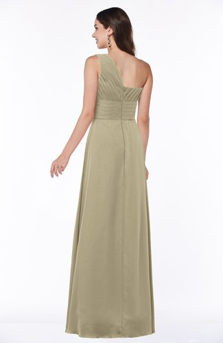 a6314b9882 ... Elegant Asymmetric Neckline Zipper Chiffon Ruching Plus Size Bridesmaid  Dresses