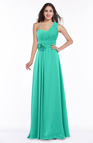 Elegant Asymmetric Neckline Zipper Chiffon Ruching Plus Size Bridesmaid Dresses
