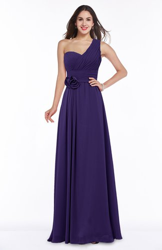 Elegant Asymmetric Neckline Zipper Chiffon Ruching Plus Size Bridesmaid Dresses