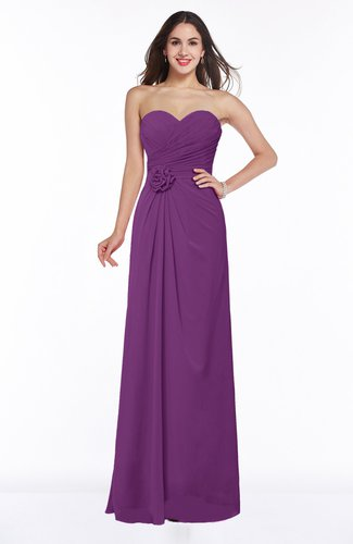 Modern A-line Sweetheart Chiffon Floor Length Plus Size Bridesmaid Dresses