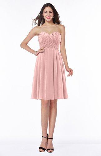 Cute Strapless Zipper Chiffon Ruching Plus Size Bridesmaid Dresses