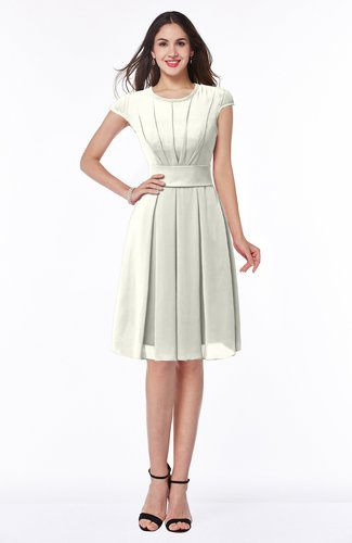 Plus Size Bridesmaid Dresses Cream color Short Sleeve ...