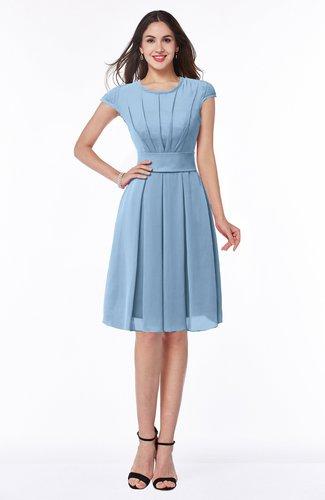 Elegant Jewel Chiffon Knee Length Sash Plus Size Bridesmaid Dresses