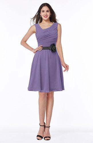 Elegant A-line V-neck Zip up Chiffon Plus Size Bridesmaid Dresses