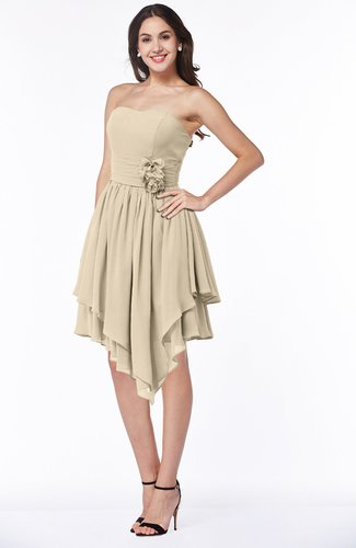 Casual Sleeveless Half Backless Chiffon Asymmetric Ribbon Plus Size Bridesmaid Dresses
