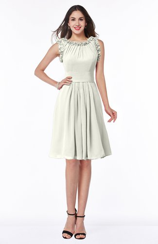 Elegant A-line Zipper Chiffon Knee Length Plus Size Bridesmaid Dresses