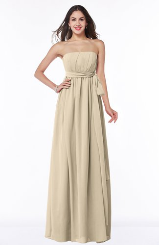 Sexy Strapless Sleeveless Chiffon Floor Length Ribbon Plus Size Bridesmaid Dresses