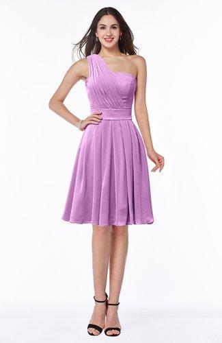 Simple Sleeveless Zip up Knee Length Ribbon Bridesmaid Dresses
