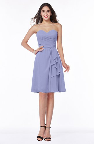 Casual A-line Zipper Chiffon Knee Length Ruching Bridesmaid Dresses