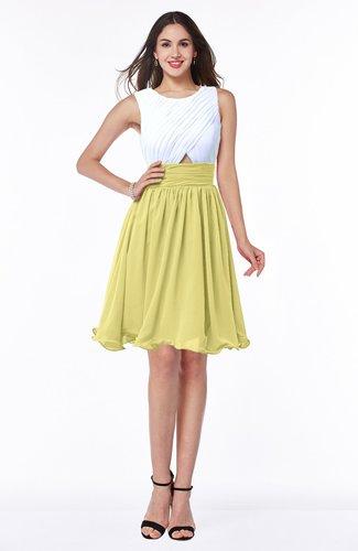 Cute A-line Sleeveless Zipper Chiffon Ruching Plus Size Bridesmaid Dresses