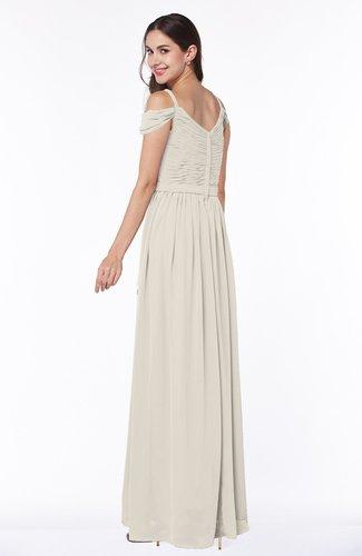 Champagne Gorgeous A-line Off-the-Shoulder Short Sleeve Chiffon Plus Size  Bridesmaid Dresses