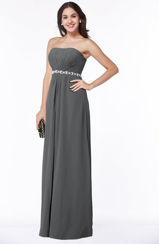 Sexy A-line Sleeveless Zipper Chiffon Floor Length Plus Size Bridesmaid Dresses
