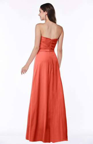 4bd0cec8ec5c ... Sexy Sleeveless Half Backless Chiffon Floor Length Ribbon Plus Size  Bridesmaid Dresses