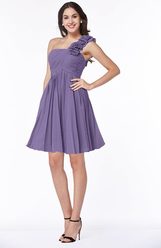 Modern A-line One Shoulder Sleeveless Zipper Chiffon Plus Size Bridesmaid Dresses