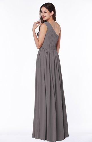 2a73637fbb84 Elegant Asymmetric Neckline Chiffon Floor Length Pleated Plus Size  Bridesmaid Dresses