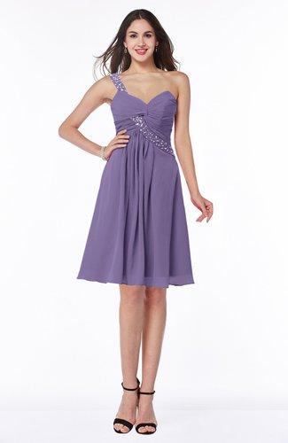 Informal Asymmetric Neckline Sleeveless Zipper Chiffon Short Plus Size Bridesmaid Dresses