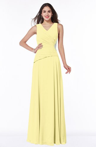 Traditional Sleeveless Zip up Chiffon Floor Length Rhinestone Plus Size Bridesmaid Dresses