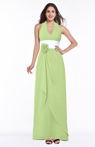 Glamorous A-line Sleeveless Zipper Chiffon Plus Size Bridesmaid Dresses