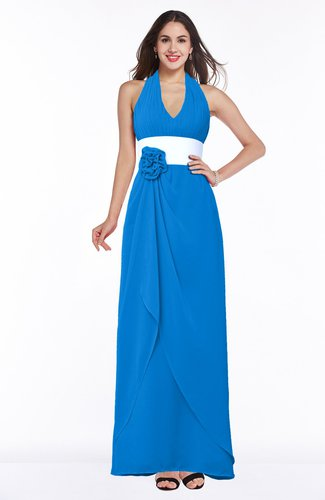 Glamorous A-line Sleeveless Zipper Chiffon Plus Size Bridesmaid Dresses