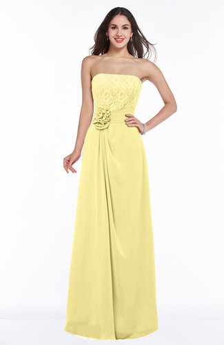 Disney Princess A-line Strapless Zipper Chiffon Plus Size Bridesmaid Dresses