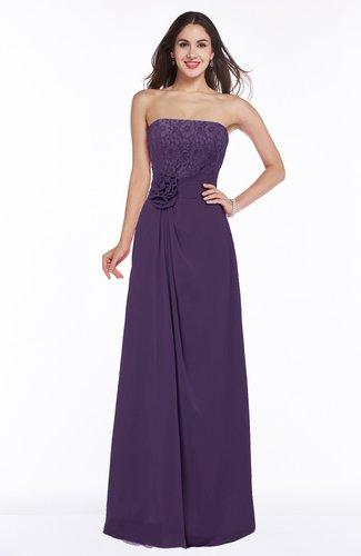 Disney Princess A-line Strapless Zipper Chiffon Plus Size Bridesmaid Dresses