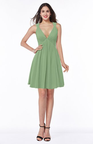 Sexy A-line Sleeveless Short Pleated Plus Size Bridesmaid Dresses