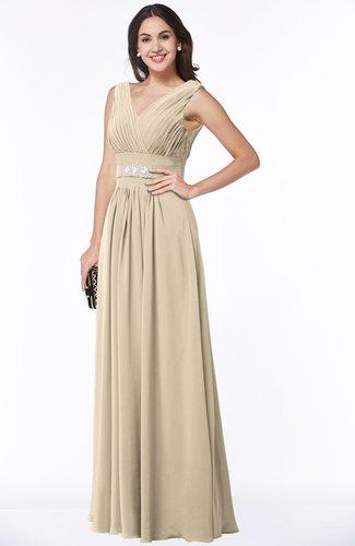 Classic A-line Zip up Chiffon Ribbon Plus Size Bridesmaid Dresses