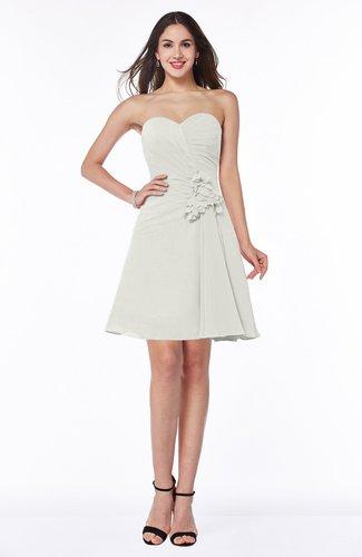 Elegant A-line Strapless Sleeveless Chiffon Mini Plus Size Bridesmaid Dresses