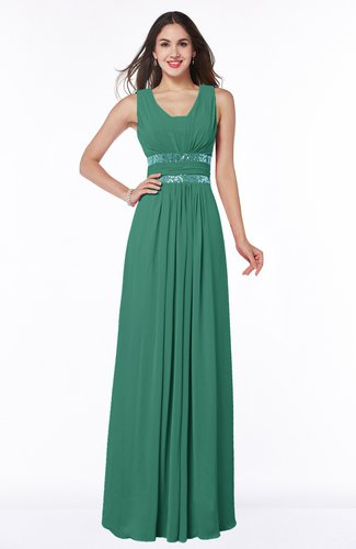 Sexy A-line Zipper Floor Length Pleated Plus Size Bridesmaid Dresses