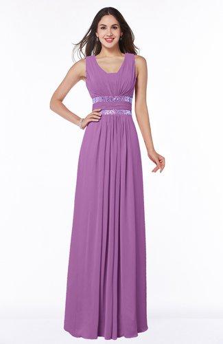 Sexy A-line Zipper Floor Length Pleated Plus Size Bridesmaid Dresses