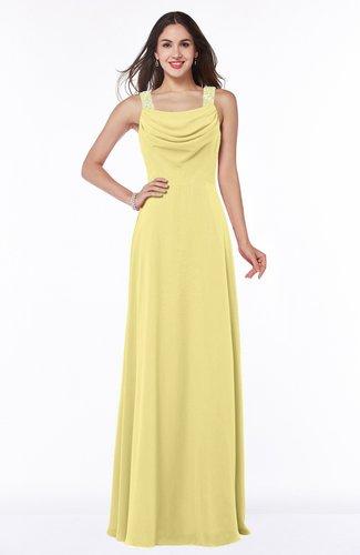 Gorgeous A-line Thick Straps Half Backless Floor Length Plus Size Bridesmaid Dresses