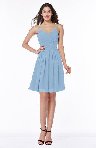 Sexy A-line Sleeveless Chiffon Mini Ribbon Plus Size Bridesmaid Dresses