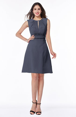 Classic A-line Sleeveless Zipper Chiffon Ribbon Plus Size Bridesmaid Dresses