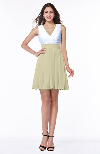 Casual A-line Sleeveless Zip up Pleated Plus Size Bridesmaid Dresses