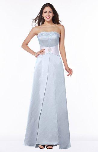 Elegant A-line Strapless Zipper Satin Sash Plus Size Bridesmaid Dresses