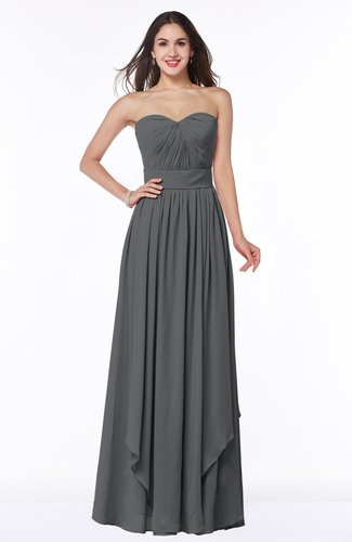 Modern A-line Sweetheart Sleeveless Floor Length Ruching Plus Size Bridesmaid Dresses
