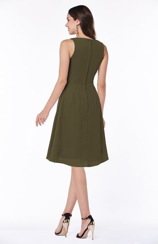 Beech Casual A-line V-neck Zip up Fringe Plus Size Bridesmaid Dresses