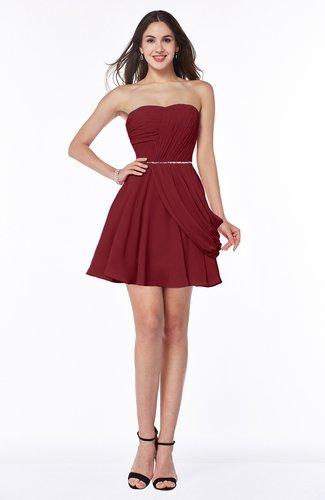 Elegant A-line Sleeveless Zipper Short Ribbon Plus Size Bridesmaid Dresses