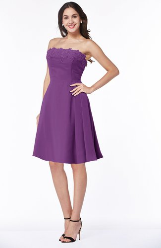 Glamorous A-line Strapless Sleeveless Half Backless Plus Size Bridesmaid Dresses