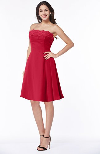 Glamorous A-line Strapless Sleeveless Half Backless Plus Size Bridesmaid Dresses