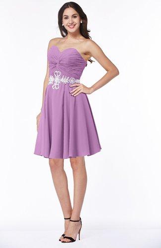 Elegant A-line Strapless Zip up Chiffon Rhinestone Plus Size Bridesmaid Dresses