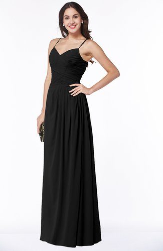 Romantic Spaghetti Sleeveless Zipper Floor Length Ruching Plus Size Bridesmaid Dresses