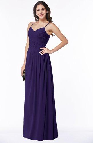 df4d86ef1c51 Romantic Spaghetti Sleeveless Zipper Floor Length Ruching Plus Size  Bridesmaid Dresses